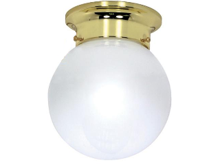 Ceiling Mount Ball Light Fixture, White