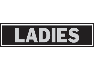 Sign 2 x 8 Aluminum Stick-On: Ladies