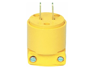 Commercial Non Grounding Round Plug, Yellow