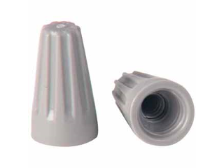Gray Cap Wire Connector, 22-16 AWG  100 Pack