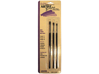 Red Sable Artist Brush Set 3 Pack