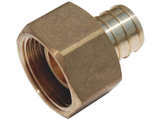 PEX Brass Straight Female Adapter, 3/4 In Barb x 3/4 In FPT