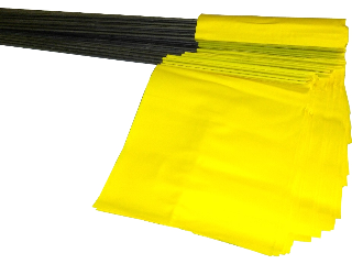 Yellow Stake Flag, 21 In
