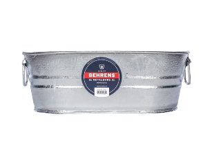 Cox hardware and lumber oval tub hot dipped galvanized for Oval tub sizes