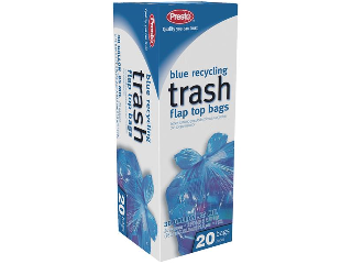 Blue Recycling Trash Bags 30 Gallon 20 Count
