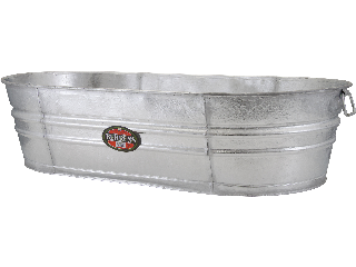 Oval Tub Hot Dipped Galvanized 33.25 Gallon