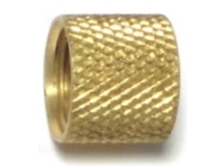 Knurled Coupling, Brass  1/8 In
