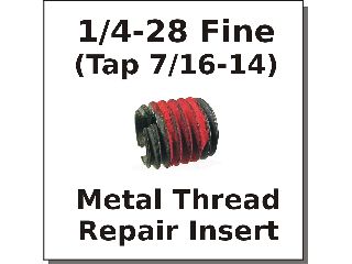 1/4-28 x 7/16-14 Metal Thread Repair Insert