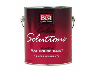 Color Solution Flat Latex House Paint White (Sizes)