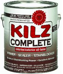 Kilz Complete Interior/Exterior Oil Based Primer, Gallon