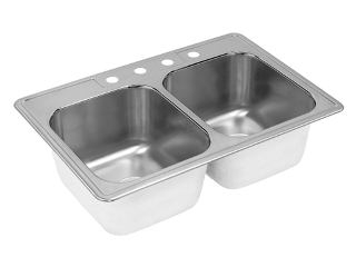 Cox Hardware And Lumber Stainless Steel Double Bowl