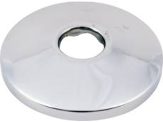 Chrome Shallow Escutcheon, 3/8 In Pipe