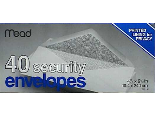 Security Envelopes 9-1/2 In 40 Count