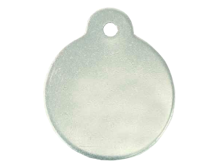 Blank Round Aluminum Tag With Ear 1 In