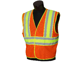 Deluxe Safety Vest Orange  (Sizes)