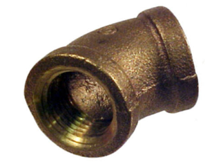 45 Degree Brass Pipe Elbow