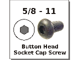 5/8-11 Button Head Socket Cap Screw Alloy Steel Plain Finish