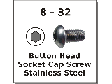8-32 Button Head Socket Screws Stainless