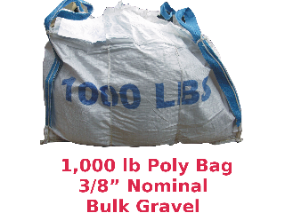 All Purpose Gravel 1000 Lb Bag