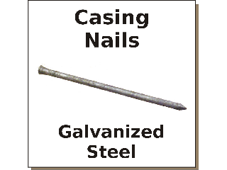 Cox Hardware And Lumber Galv Casing Nails Sizes 6d To 16d