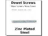 Dowel Screws Zinc Plated Steel