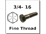 3/4-16 Hex Bolts Grade 8