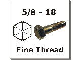 5/8-18 Hex Bolts Grade 8