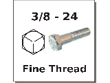 3/8-24 Hex Bolts Grade 5