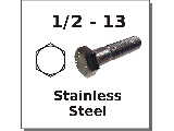 1/2-13 Hex Bolts Stainless Steel
