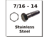 7/16-14 Hex Bolts Stainless Steel