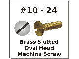 10-24 Oval Head Slotted Brass