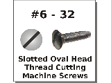 6-32 Oval Head Slot Thread Cutting Screws