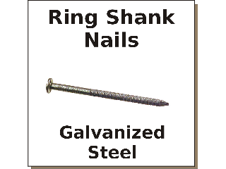 Hot Galv Ring Shank Nail (Sizes 6d to 16d)