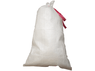 Sand Bag With Tie 14 In X 26 White