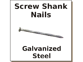 Cox Hardware And Lumber Hot Galv Screw Shank Nail Sizes