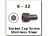 6-32 Socket Head Screws Stainless