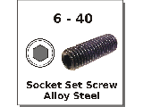6-40 FINE Socket Set Screws