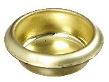 "Door Cup Finger Pull 3/4"" V142 Brass Finish"