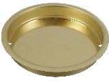 "Pocket Door Cup Pull 2-1/8"" V145 Brass"